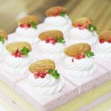 母亲节蛋糕—杏仁覆盆子慕斯蛋糕(妈妈的爱)